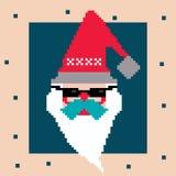 Vector pixel Santa Stock Photography