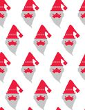 Vector pixel Santa. Santa claus pattern, christmas seamless pattern, background with santa claus, christmas paper wrapper, wrapping holiday gifts. Vector Stock Photos