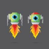 Vector pixel style robot set Stock Photography