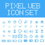 Vector pixel web icons set Stock Photography