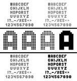 Vector pixelalfabet Stock Foto's