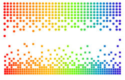 Vector pixels. Vector illustration of various colorfull pixels Royalty Free Stock Image