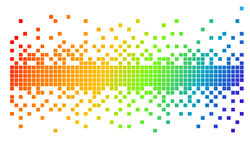 Vector pixels. Vector illustration of various colorfully pixels Stock Photo
