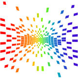 Vector pixels. Vector illustration of various colorfully pixels Royalty Free Stock Image