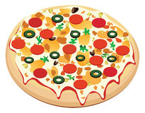 Vector pizza Stock Image