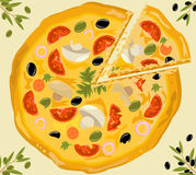 Vector pizza stock images