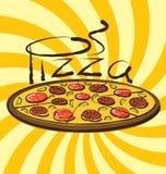 Vector Pizza Royalty Free Stock Photos