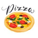 Vector pizza. Italian Pizza. Fast food, Italian. Vector pizza Italian Pizza Fast food Italian Stock Photos