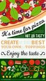 Vector pizza menu illustration stock illustration