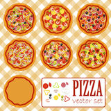 Vector pizza set Royalty Free Stock Image