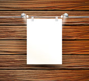 Vector place for poster and wooden wall Royalty Free Stock Image