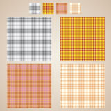 Vector plaid patterns Stock Image