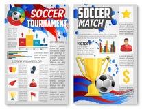 Vector Plakat für Fußball- oder Fußballsportmatch stock abbildung