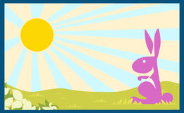vector Plakathintergrundkaninchen-Kinderbuch-Kinderkonzept Stockbilder
