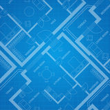 Vector plan blue print. Architectural background Stock Photo