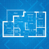 Vector plan blue print.  Flat Design Royalty Free Stock Photography