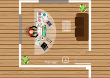 Vector Plan the work of a business meeting, workshops and brainstorming ideas  Stock Photography