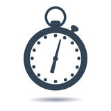 Vector plane icon stopwatch, timer. Vector illustration Royalty Free Stock Photography