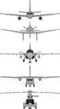 Vector planes Royalty Free Stock Image