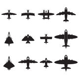 Vector planes set Stock Photos