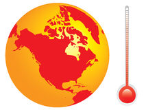 Vector of the planet. Conceptual vector of the planet and it's temperature Stock Photos