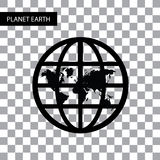 Vector planet earth symbol Stock Images