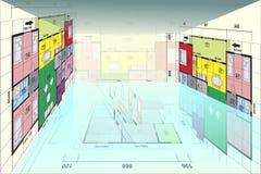 Vector planhuis stock illustratie
