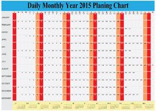 Vector of Planing Chart of All Daily Monthly Year 2015 Royalty Free Stock Photos