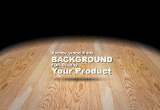 Vector : Plank wooden floor background, Mock up for display of p Stock Image