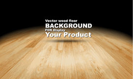 Vector : Plank wooden floor background, Mock up for display of p Royalty Free Stock Photography