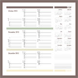 Vector planner for 2015 -Three month calendar. Vector planner for 2015 -October, November, December 2015 stock illustration