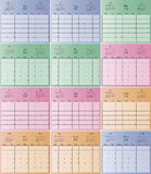 Vector planning calendar 2016 Royalty Free Stock Images