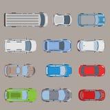Vector plano del coche del vehículo de van bus del transporte por carretera de la visión superior libre illustration