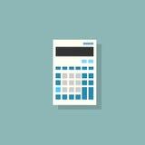 Vector plano del diseño del color del icono de la calculadora Fotografía de archivo libre de regalías