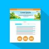Vector plano del icono de la página del sitio web de Internet Imagen de archivo libre de regalías