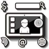 Vector plano del icono de la tableta libre illustration