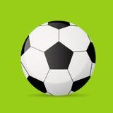 Vector plano del icono del balón de fútbol del fútbol Foto de archivo