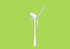 Vector plano isométrico de la turbina de viento Imagen de archivo libre de regalías