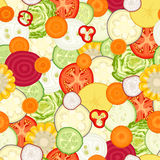 Vector plantaardig naadloos patroon Stock Afbeelding