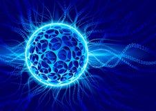 Vector plasma ball Stock Images