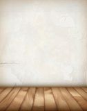 Vector Plaster Wall Wood Floor Stock Images