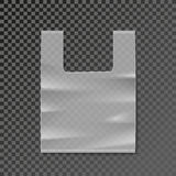 Vector plastic bag blank template on transparent background Stock Photo