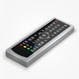 Vector plastic black remote controller. Stock Images