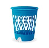 Vector plastic blue basket, trash bins on white Royalty Free Stock Photo