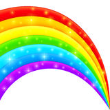 Vector plastic bright shining rainbow Royalty Free Stock Photos