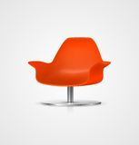 Vector Plastic Chair. EPS 10 vector red plastic chair illustration Royalty Free Stock Image