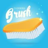 Vector plastic huisvesting, vloerwas, het schrobben en het schoonmaken vector illustratie
