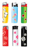 Vector plastic lighters Royalty Free Stock Photography