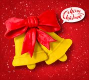 Vector plasticine figure of Christmas bells Royalty Free Stock Photography