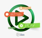 Vector play button infographic concept Royalty Free Stock Photos